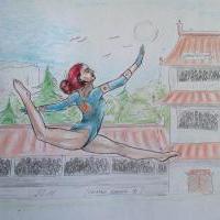 Gymnastka z klanu Uzumaki.. :)